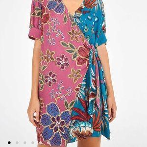 NWT Farm Rio Mixed Mini Wrap Dress